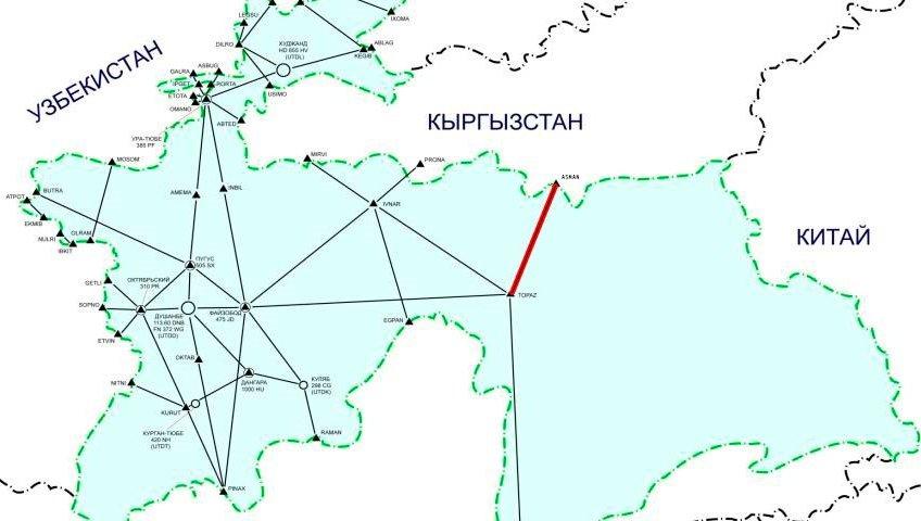 Новая международная воздушная трасса в небе Таджикистана