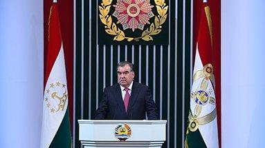 Просмотр послания Президента Республики Таджикистан, Лидера нации Эмомали Рахмона Маджлиси Оли Республики Таджикистан