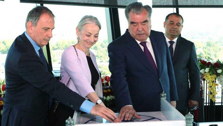 Открытие контрольно-диспетчерской вышки ГУП «Таджикаэронавигация» в городе Душанбе