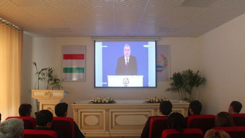 Просмотр послания Основателя мира и национального единства – Лидера нации, Президента Республики Таджикистан уважаемого Эмомали Рахмона